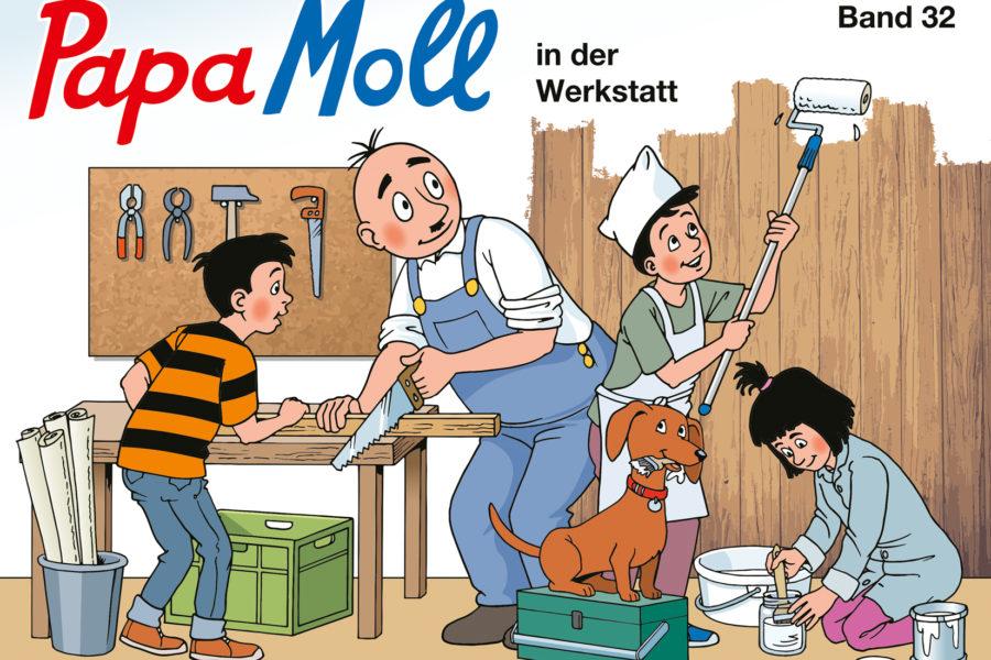 Papa Moll in der Werkstatt