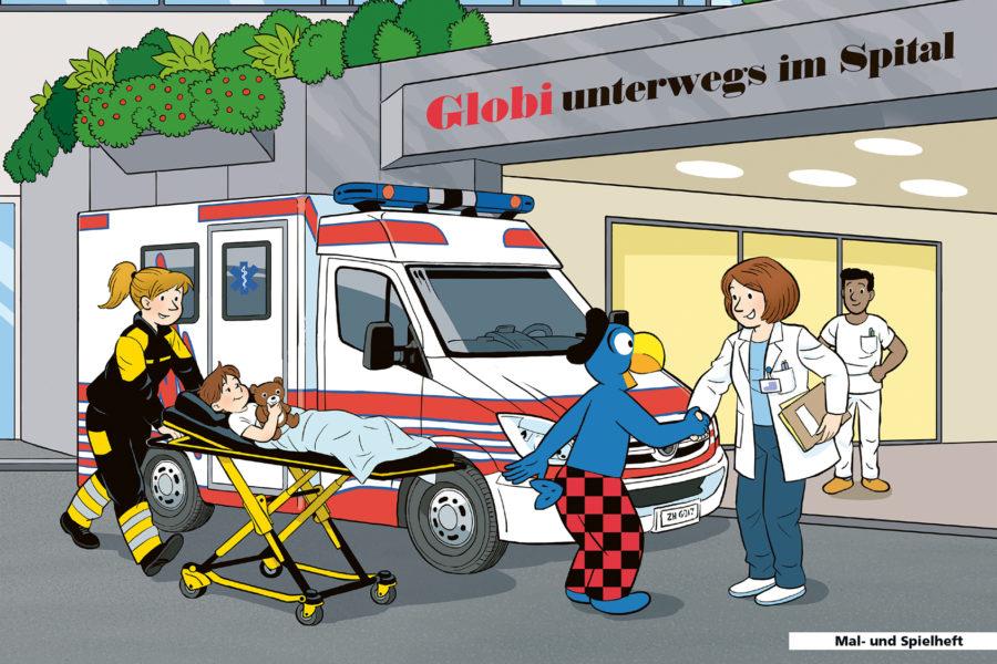 Globi im Spital